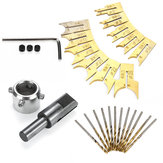 24pcs Drill Bit Rosary Cut Alloy Set Alloy Ball DIY Wood Rosary Bead Molding Woodworking Tool