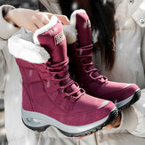 Women Slip Resistant Plush Lining Warm Snow Boots