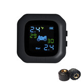 Waterproof LCD Motorcycle TPMS Tire Pressure Monitor System With 2 External Sensor
