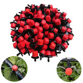 100pcs Adjustable Irrigation Drippers Sprinklers 1/4 Inch Emitter Dripper Micro Drip Irrigation Sprinklers for Garden Watering System