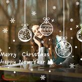 Miico ABQ6003 Christmas Sticker Kreatywny wzór Naklejki ścienne Dekoracja pokoju Removable