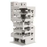 Ölçek 1/144 Beyaz Savaş Köşe Yıkık Bina Modeli Bina Ev Dekorasyon Için