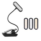 9 LED USB Rechargeable Eye-Care Warm Book Light Clip On Dimmable Table Lamp For Music Stand Night Reading Piano Power Indicator