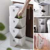 Kitchen Bathroom Trash Can Stacked Sorting Waste Bins Recycling Household