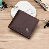 Men Genuine Leather Vintage RFID Blocking Wallet