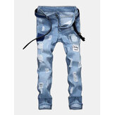 Men Patchwork Jeans