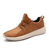 Мужская микрофибра из кожи Soft на шнуровке кроссовки Водонепроницаемы нескользящая модная обувь