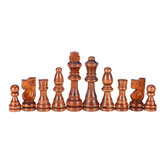 32 Piece Wooden Carved Chess 91mm King Chessman Hand Crafted Set Outdoor Entertainment Toy