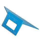Stop aluminium 17 cm T Linijka do obróbki drewna Kwadratowy wielofunkcyjny rysik 45 90 stopni Kąt Kątomierz linijki