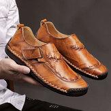 Męskie szwy skórzane buty