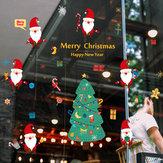 Miico SK9230 Christmas Catoon Etiqueta de la pared extraíble para la decoración de la sala de fiestas de Navidad
