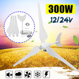 300W 12V/24V Wind Generator 3 Blades Kits Motor Kit Electromagnetic with Controller For Home Streetlight Use
