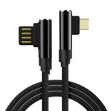 Bakeey 2.4A Dual 90 Degree Elbow Type C Micro USB Fast Charging Data Cable For MI8 MI9 HUAWEI Oneplus 7 Pocophone F1 S10 S10+