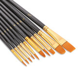 10Pcs Paint Brushes Nylon Hair Brushes for Acrylic Watercolor Painting Artist Professional Painting Kits Drawing Pen