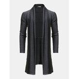 Cardigan mi-long en laine drapée
