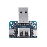 USB Adapter Board Male to Female Micro Type-C 4P 2.54mm USB4 Module Converter