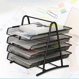 2/3/4 Tingkatan Desktop Dokumen Kertas Surat File Sliding Tray Desk Organizer Desktop