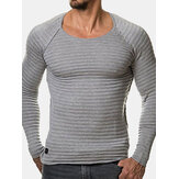 Gestreepte plooien Slim Fit Casual T-shirts