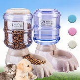 3.8L Large Automatic Pet Food Drink Dispenser Dog Cat Feeder Water Bowl Automatic Waterer