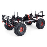 SCX10 1/10 4WD CNC All Metal Carbon Fiber RC Car Frame+540 Motor+60A Waterproof ESC+M1500 Servo