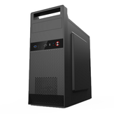 SKTC K6 Cold Rolled Steel Sheet mATX ITX USB2.0 Gaming Tempered Computer Case Portable Desktop Chassis ATX Power Supply