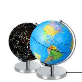 9 polegadas LED Geografia mundial do suporte rotativo Tellurion da terra do mundo para a educação