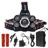 Lampe frontale XANES® 7310-A 2500LM T6 + 4xXPE 4 modes 90 ° réglable étanche 2x18650 Batterie Lampe de travail pour chargeur AC / DC