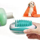 Pente de limpeza multifuncional Cat Sabão Banho de borracha para animais de estimação Escova Cães Ferramentas de higiene e limpeza dispensador de xampu de