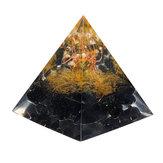Orgone Pyramid Gerador de Energia Torre Casa Reiki Cura Cristal 60x56x56mm Decorações