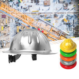 Lightweight Aluminum Full Brim Hard Hat Safety Helmet Protection Construction