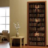 3D deur muur Sticker zelfklevende Retro boekenplank Decal Home Art Decor