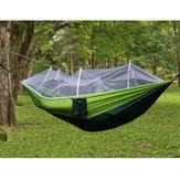 Tessuto portatile del paracadute dell'amaca doppia campeggio di 300kg con zanzariera