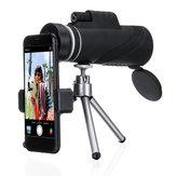 40x60 HD Monoküler Yakınlaştırma Askeri Avcılık Gece Görüş Teleskop / Tripod Telefon Klip