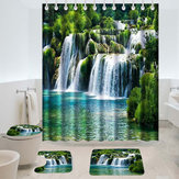 180 x180cm Shower Curtain Anti-Slip Carpets Waterfall Style Bathroom Bath Mat