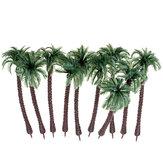 10PCS Mini Árvores Artificiais Coco Árvore Planta Decorações para Festas de Escritório em Casa Presente PVC