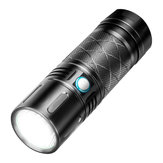 XANES FL6 SST40 2800LM Super Brignt 500m Long Range USB Rechargeable 18650 LED Flashlight
