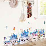 Miico FX64046 Flower Wall Sticker Children's Room And Kindergarten Decorative Wall Sticker  DIY Sticker