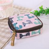 Cloth Waterproof Zipper Sanitary Napkin Cosmetic Storage Bag Coin Purse