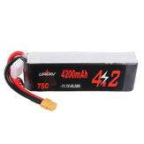 URUAV 11.1V 4200mAh 75C 3S Lipo Battery XT60 Plug for RC Racing Drone