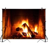 2x1FT 3x2FT Fireplace Fire Wood Photography Backdrop Background Studio Prop