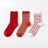 Dames Christmas Tube Sokken Casual katoenen 12 paar sokken
