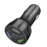 سريع شحن QC3.0 Fast Car شاحن 3 USB وحهة المستخدم حماية متعددة الوظائف