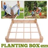 بيلهام ليفينج 4 × 8 أقدام سرير حديقة مرتفعة مع تنمو تنمو شبكة تنمو مربع
