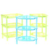 3 Tiers Plastic Corner Organizer Bathroom Caddy Shelf Kitchen Desktop Storage Rack Holder