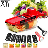 XYJ CCFG8901 Multi-function Vegetable Cutter Steel Blade Mandoline Slicer Potato Peeler Carrot Cheese Grater Vegetable Slicing Tool