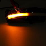 2 piezas Coche secuencial dinámica LED lámparas de señal de giro espejo lateral luces intermitentes transparentes para Ford Mondeo Fusion 2013-2018