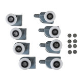 8PCS 25mm Top and Bottom Shower Door Rollers Wheels Runners Pulleys Replacement