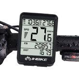 INBIKE IN321 الخلفية دراجات الحاسوب ضد للماء اللاسلكية LCD عداد المسافات دراجات عداد السرعة