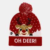 Рождественский снеговик лось Ёлка в манжетах мяч вязаная Шапка
