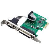 SSU PCI-E 1S1P Placa de Impressora PCI-E Cartão de Controle Fiscal Cartão LPT Porta Serial Placa de Expansão de Porta Paralela